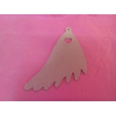 4mm Hanging angel wing with heart cut out pack of 3